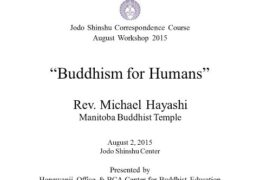 Buddhism for Humans by Rev. Michael Hayashi